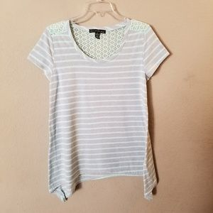 French Laundry Green & Grey Short SleeveTop size S